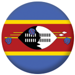 Swaziland Country Flag 25mm Keyring